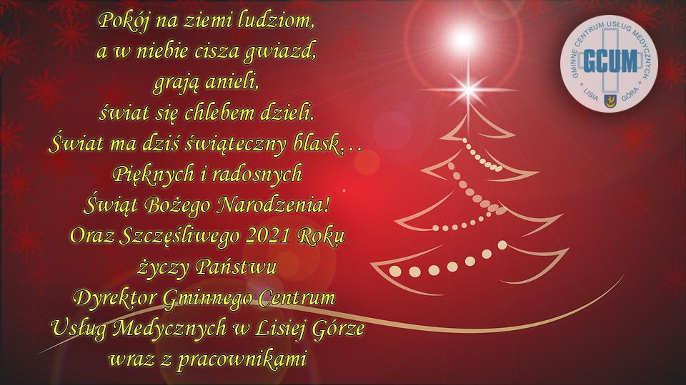 Wesołych Świąt oraz Szczęśliwego 2021 roku